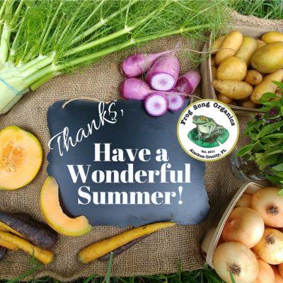 Last 'Spring 2018' CSA Share June 13-16