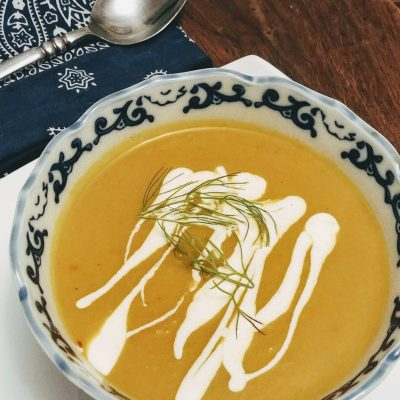 Carrot, Fennel & Ginger Bisque