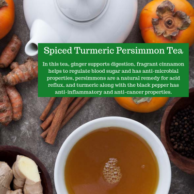 Spiced Turmeric Persimmon Tea